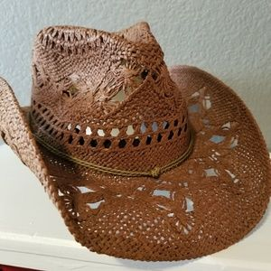 Goldcoast boho lace drifter western hat fall brown